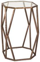 BEISTELLTISCH in Bronzefarben - Bronzefarben, Design, Glas/Metall (49/50/49cm)