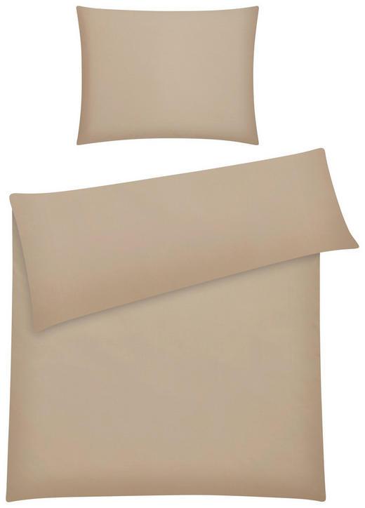 BETTWÄSCHE BASIC 140/200 cm - Taupe, Basics, Textil (140/200cm) - Novel