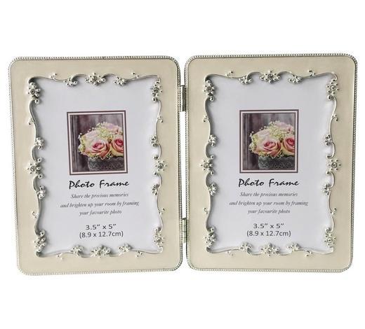 FOTORAHMEN in Weiß - Weiß, Basics, Karton/Glas (22,6/14,6cm) - Ambia Home