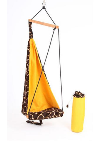 VISEČ SEDEŽ - oranžna/rjava, Basics, tekstil/les (131cm)