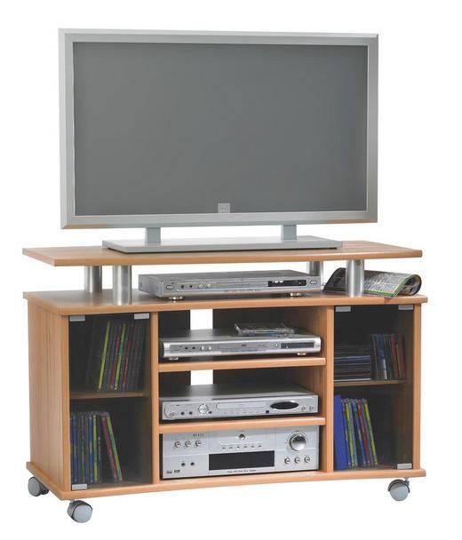 TV-ELEMENT Buchefarben - Buchefarben, KONVENTIONELL, Glas/Holzwerkstoff (100/68/45cm)