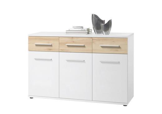SIDEBOARD Buchefarben, Weiß - Buchefarben/Alufarben, Design, Holzwerkstoff/Kunststoff (135/90/40cm) - Ti`me