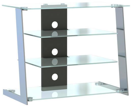 TV-ELEMENT Edelstahlfarben - Edelstahlfarben, Design, Glas/Metall (80/65/45cm) - Voleo