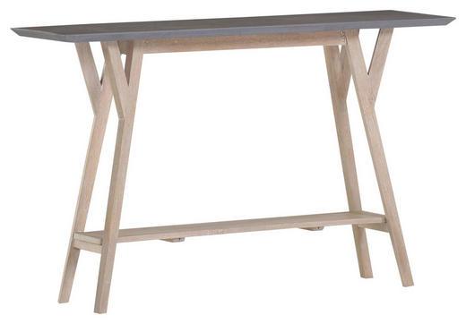 KONSOLE Mangoholz massiv Grau, Naturfarben - Naturfarben/Grau, Design, Holz (125/80/40cm) - Carryhome