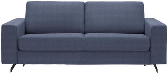 SCHLAFSOFA in Textil Blau  - Blau/Schwarz, MODERN, Textil (200/82/102cm) - Dieter Knoll