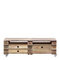 LOWBOARD in Naturfarben - Naturfarben, LIFESTYLE, Holz/Kunststoff (150/46/47cm) - Carryhome