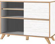 REGAL in 120/92/40 cm Eichefarben, Weiß - Eichefarben/Weiß, Design, Holzwerkstoff (120/92/40cm) - Xora