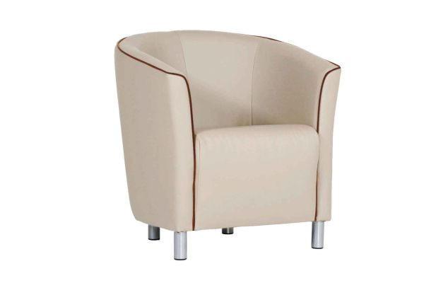 FOTELJA - bež/boje kroma, Design, tekstil/metal (71/74/63cm) - BOXXX