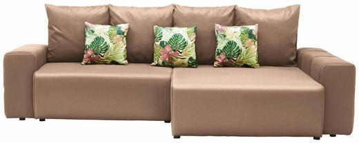 WOHNLANDSCHAFT in Textil Beige, Multicolor - Beige/Multicolor, Design, Kunststoff/Textil (282/158cm) - Carryhome