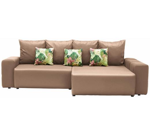 WOHNLANDSCHAFT in Textil Multicolor, Beige - Beige/Multicolor, Design, Kunststoff/Textil (282/158cm) - Carryhome