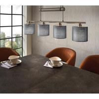 HÄNGELEUCHTE - Grau/Nickelfarben, LIFESTYLE, Textil/Metall (77/150/13,5cm) - Novel