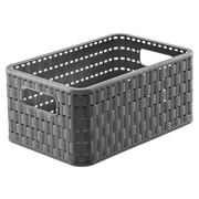 Korb - Dunkelgrau, Konventionell, Kunststoff (28/18,5/12,6cm) - Rotho
