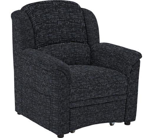 SESSEL in Textil Anthrazit - Anthrazit/Schwarz, KONVENTIONELL, Kunststoff/Textil (94/98/89cm) - Beldomo Comfort