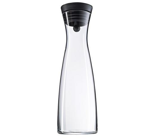 WASSERKARAFFE 1,5 L - Klar/Schwarz, Design, Glas/Kunststoff (32,7cm) - WMF