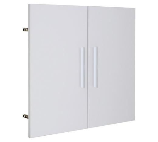 TÜR Weiß  - Silberfarben/Weiß, Design, Metall (75,6/68,1cm) - Voleo