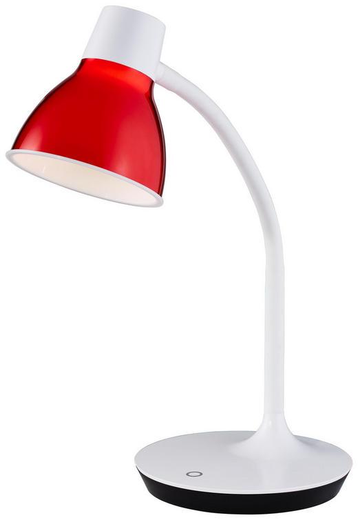 LED-SCHREIBTISCHLEUCHTE - Rot/Weiß, KONVENTIONELL, Kunststoff/Metall (45cm) - Boxxx
