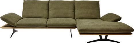 WOHNLANDSCHAFT Grün Flachgewebe - Schwarz/Grün, Design, Holz/Textil (314/159cm) - Dieter Knoll