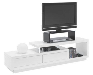 MEDIABÄNK - vit/alufärgad, Design, metall/träbaserade material (170/45/40cm) - Xora