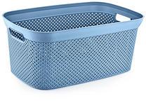 AUFBEWAHRUNGSBOX 35/24/17 cm  - Blau, Design, Kunststoff (35/24/17cm) - Homeware