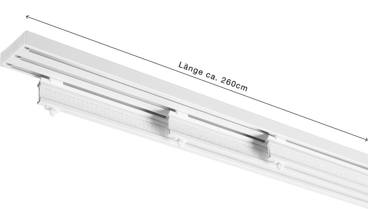 FLÄCHENVORHANGSCHIENE 260 cm - Weiß, KONVENTIONELL, Metall (260cm) - HOMEWARE