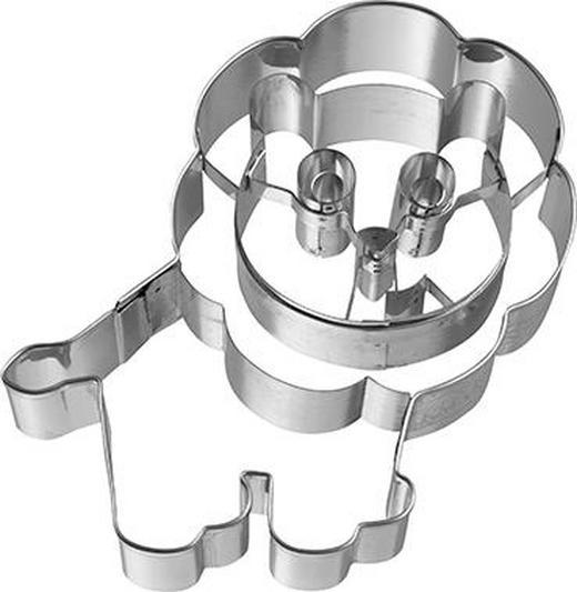 KEKSAUSSTECHFORM - Edelstahlfarben, Basics, Metall (8,5/8,5/2,5cm) - Birkmann