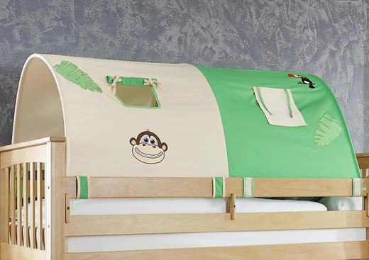 TUNNELSET Beige, Grün - Beige/Grün, Design, Textil