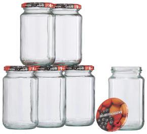KONSERVERINGSGLAS SET - multicolor/transparent, Basics, metall/glas (0,37l)