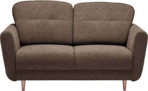 ZWEISITZER-SOFA Hellbraun - Hellbraun, Design, Holz/Textil (154/90/93cm) - Hom`in