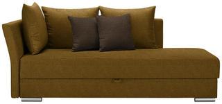 LIEGE in Textil Bernsteinfarben, Dunkelbraun - Chromfarben/Dunkelbraun, Design, Kunststoff/Textil (220/93/100cm) - Xora