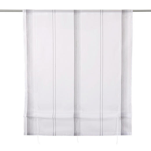 RAFFROLLO  transparent   100/130 cm - Schwarz/Weiß, Basics, Textil (100/130cm) - Novel