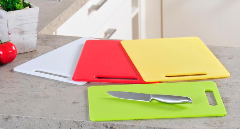 SCHNEIDEBRETT 34/24/0,6 cm - Gelb, Basics, Kunststoff (34/24/0,6cm) - HOMEWARE