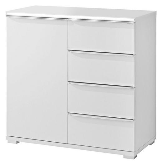KOMMODE Weiß - Alufarben/Weiß, Design, Holzwerkstoff/Kunststoff (80/80/40cm) - Moderano