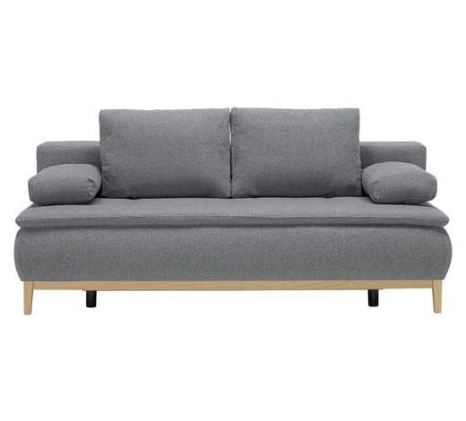 POHOVKA BOXSPRING, textil, modrá, šedá - šedá/modrá, Moderní, dřevo/textil (202/78/93/100cm) - Venda