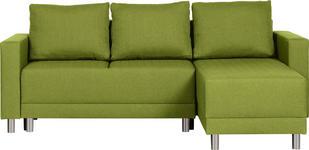 WOHNLANDSCHAFT in Textil Grün  - Silberfarben/Schwarz, Design, Kunststoff/Textil (215/145cm) - Carryhome
