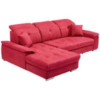 SEDACÍ SOUPRAVA, červená, textilie - barvy stříbra/červená, Design, kov/textilie (187/279cm) - Cantus