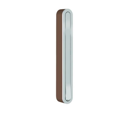 WANDHAKEN in Braun, Chromfarben - Chromfarben/Braun, Design, Kunststoff/Metall (2,1/16/2,1 (15,6)cm)