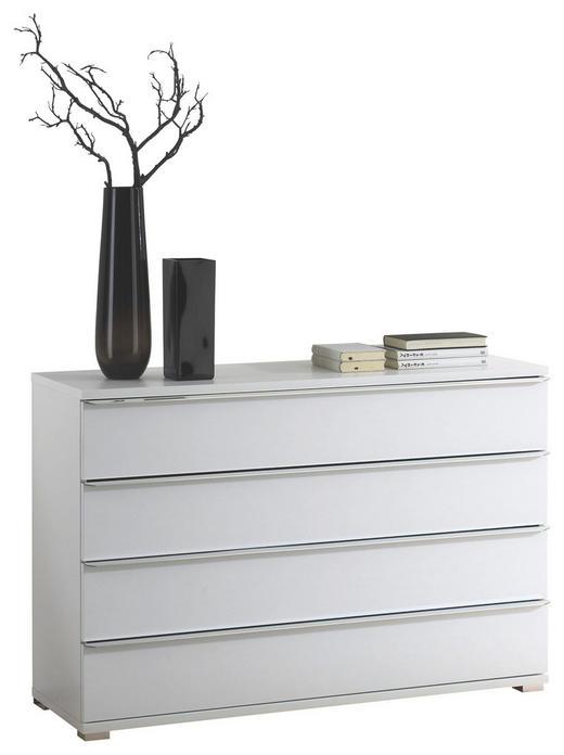KOMODA - bílá/barvy chromu, Design, kompozitní dřevo/umělá hmota (120/80/40cm) - Cantus