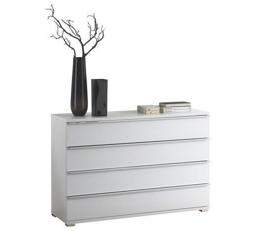 KOMODA, bílá - bílá/barvy chromu, Design, kompozitní dřevo/umělá hmota (120/80/40cm) - Cantus