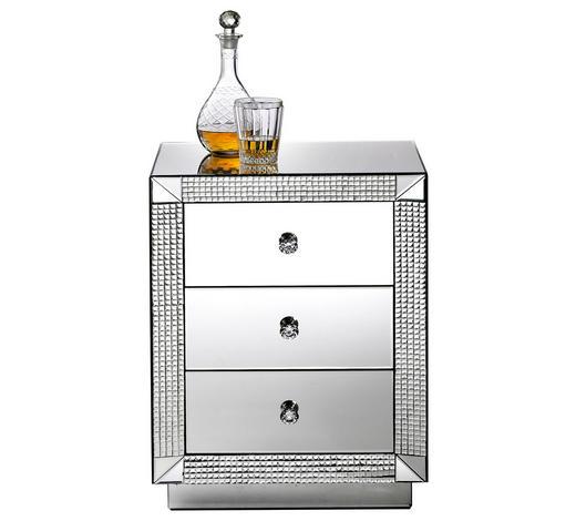 KOMMODE handbemalt  - Klar, Design, Glas/Kunststoff (46/66/35,5cm) - Xora