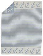 KINDERDECKE 130/180 cm Hellblau, Naturfarben - Naturfarben/Hellblau, Basics, Textil (130/180cm)