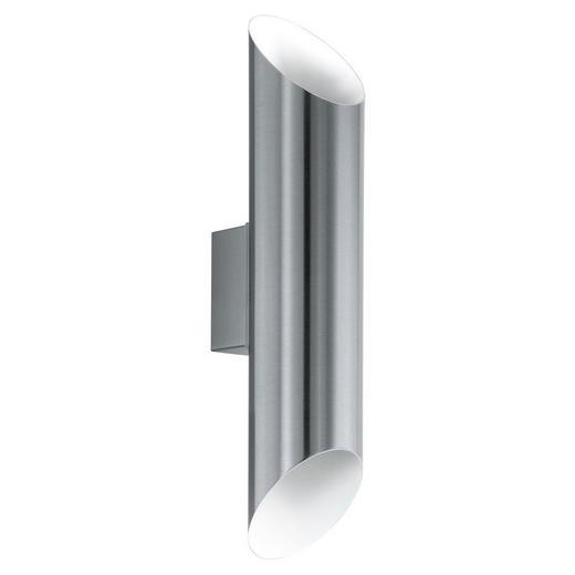 LED-AUßENLEUCHTE - Weiß, Design, Metall (36/7,5/11cm)