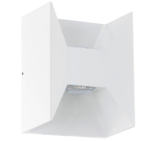 AUßENWANDLEUCHTE Weiß  - Weiß, Basics, Metall (14/18/10,5cm)