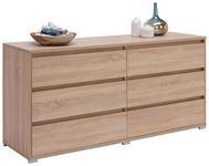 KOMMODE 160/79/48 cm  - Alufarben/Sonoma Eiche, Design, Holzwerkstoff/Kunststoff (160/79/48cm) - Carryhome