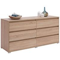 KOMODA, hrast sonoma  - aluminij/hrast sonoma, Design, umetna masa/leseni material (160/79/48cm) - Carryhome