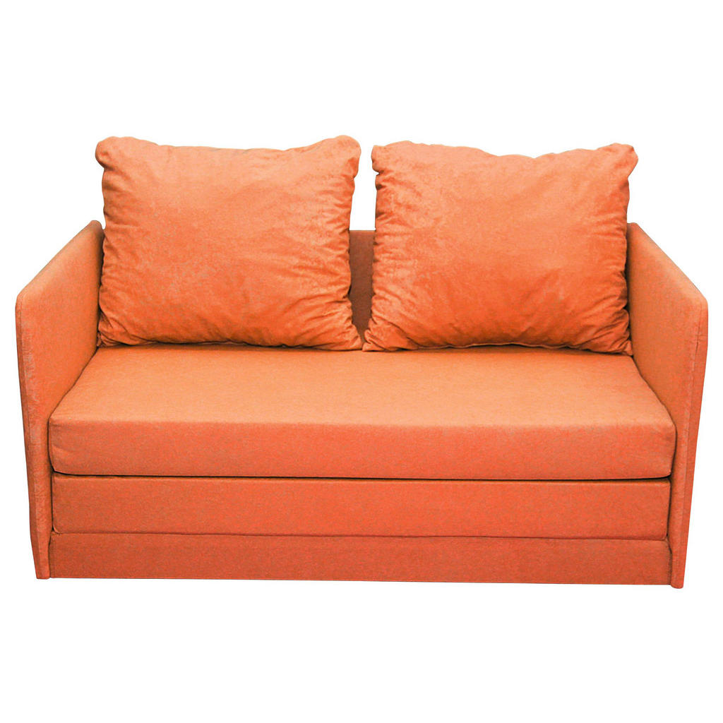 Carryhome JUGEND- UND KINDERSOFA Mikrofaser Orange