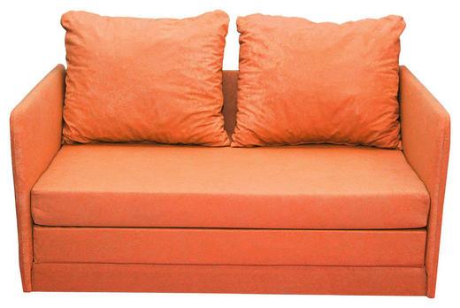 JUGEND- UND KINDERSOFA Mikrofaser Orange - Schwarz/Orange, Design, Kunststoff/Textil (116/69/64cm) - Carryhome