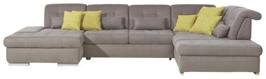 WOHNLANDSCHAFT Grau Nierenkissen - Chromfarben/Grau, Design, Textil/Metall (200/402/273cm) - Xora