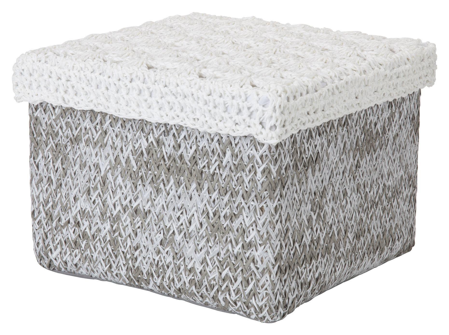 REGALKORB - Weiß/Grau, Basics, Papier (26/26/18cm) - LANDSCAPE