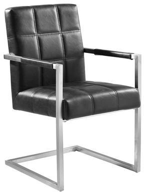 KARMSTOL - svart/rostfritt stål-färgad, Design, metall/textil (55/92/63cm) - Novel