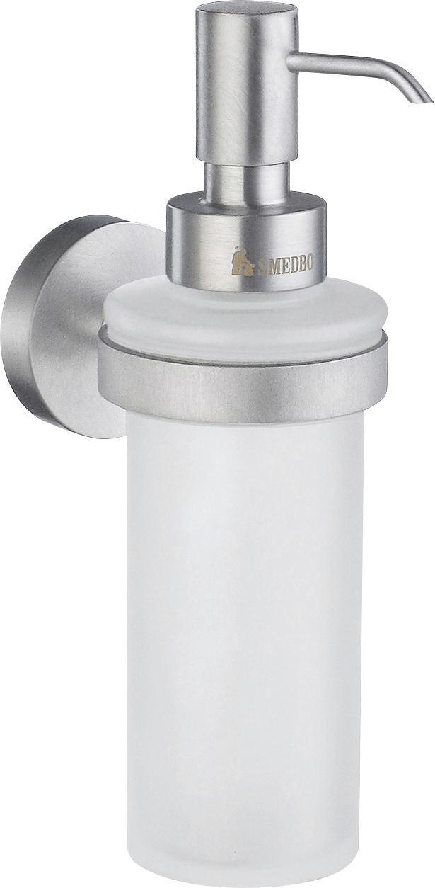 SEIFENSPENDER - Chromfarben, Basics, Glas/Metall (18cm)